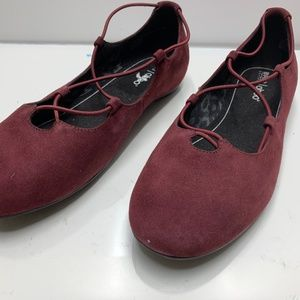 Abeo Shoes - Abeo Women's Red Burgundy Comfort Flats Shoes Size